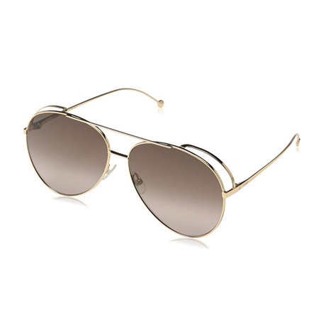 Unisex Sunglasses // 63mm // Gold Frame