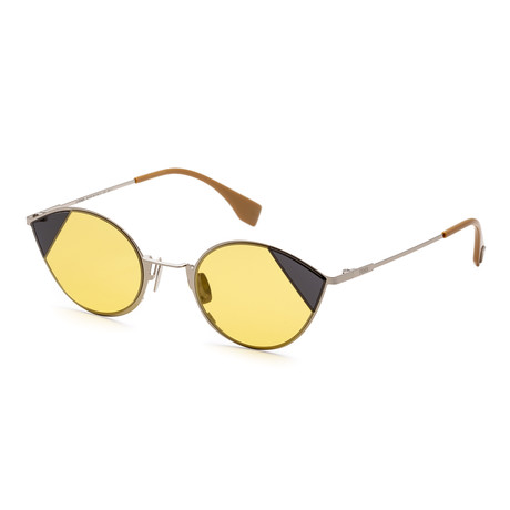 Women's Fashion Sunglasses // 51mm // Silver + Gold Frame