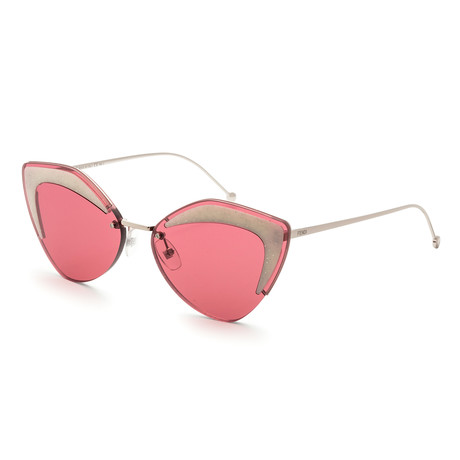 Women's Geometric Sunglasses // Silver