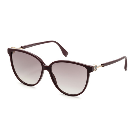 Women's 0345 Sunglasses // Plum + Dark Gray Gradient