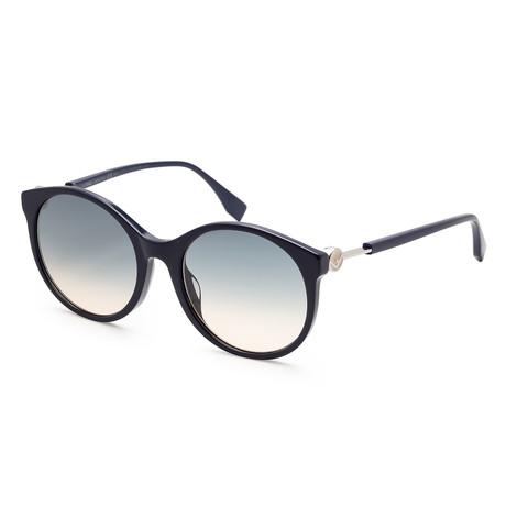 Women's 0362 Sunglasses // Blue + Blue Gradient