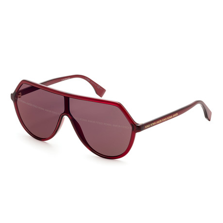 Women's Fashion Sunglasses // 52mm // Red Frame
