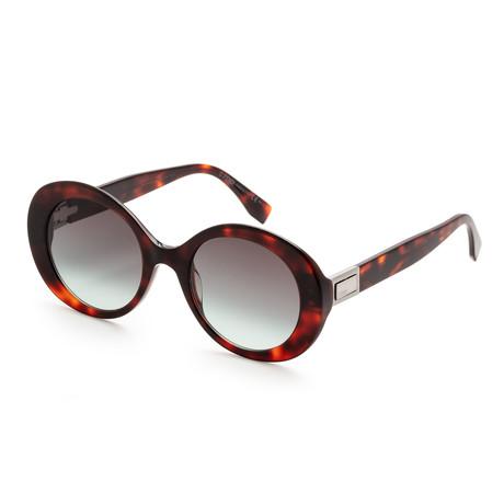 Unisex 0293 Sunglasses // Havana + Gray Green Gradient