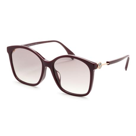 Women's 0361 Sunglasses // Opal Burgundy + Dark Gray Gradient