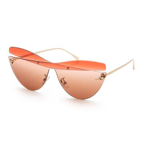 Women's 0400 Sunglasses // Brown Red + Brown Gradient