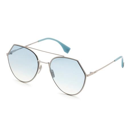 Women's 0194 Sunglasses // Light Blush + Blue Silver