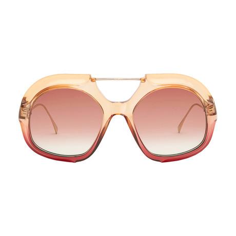 Men's Tropical Shine Sunglasses // Gold + Pink