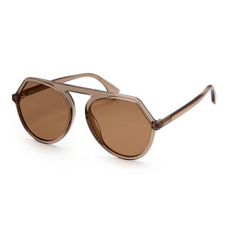 Women's 0375 Sunglasses // Brown + Gold