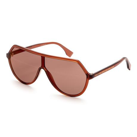 Women's 0377 Sunglasses // Brown + Red
