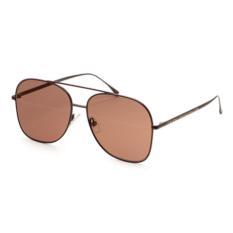 Women's Fashion Sunglasses // 51mm // Brown + Gold Frame
