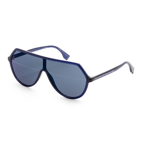 Women's Fashion Sunglasses // 63mm // Blue Frame