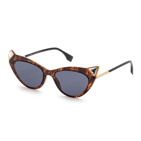 Women's Irida Cat Eye Sunglasses // Havana + Blue