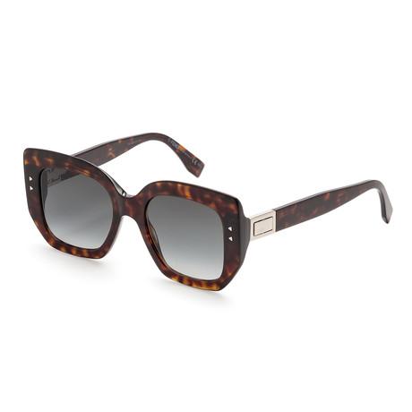 Unisex 0267 Sunglasses // Dark Havana + Dark Gray Gradient