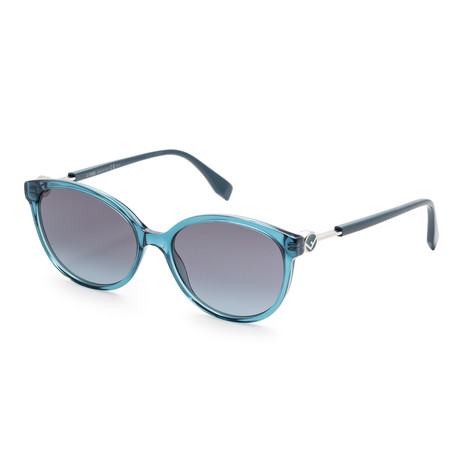 Women's Fashion Sunglasses // 53mm // Transparent + Teal Frame