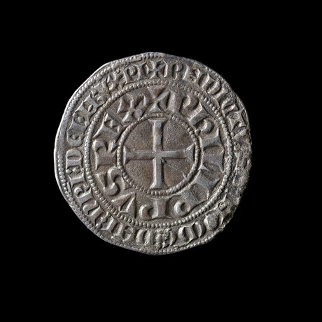 Knights Templar France. Philip IV Le Bel // Large Silver Coin