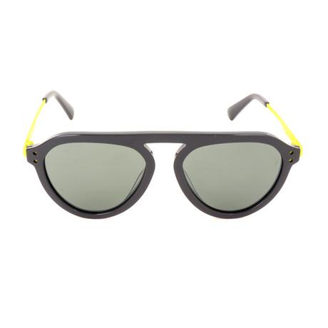 Men's DL0277 Sunglasses // Gray Green Mirror