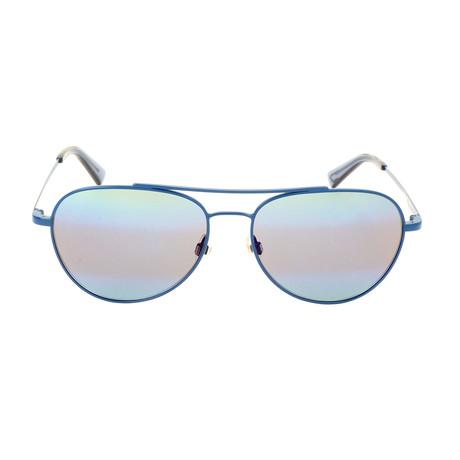 Men's DL0285 Sunglasses // Matte Blue + Blue Mirror
