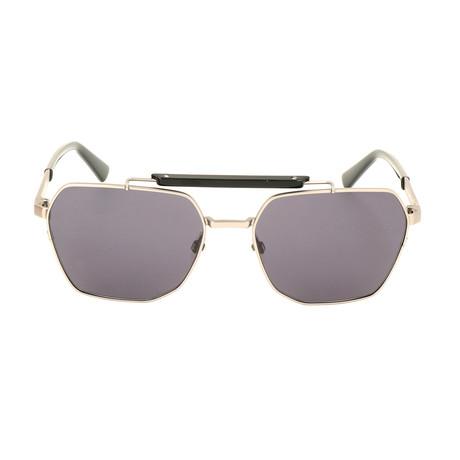 Men's DL0256 Sunglasses // Shiny Anthracite + Smoke