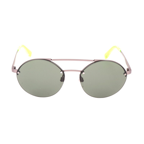 Unisex DL0275 Sunglasses // Matte Gunmetal + Green