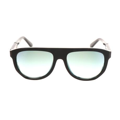 Men's DL0255 Sunglasses // Black Green Mirror