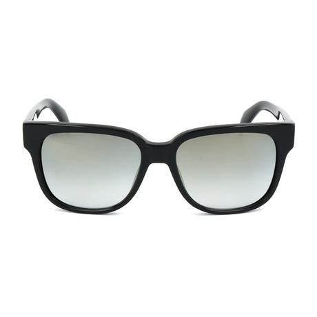 Unisex DL0074 Sunglasses // Shiny Black + Gradient Smoke