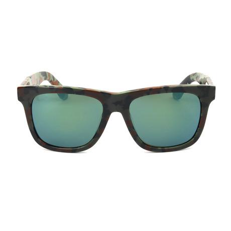 Unisex DL0116 Sunglasses // Dark Green Green Mirror