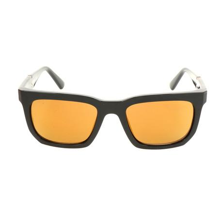 Men's DL0254 Sunglasses // Shiny Black + Brown