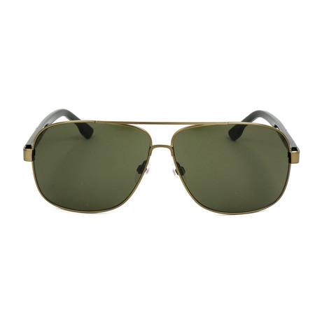 Men's DL0125 Sunglasses // Gold Green
