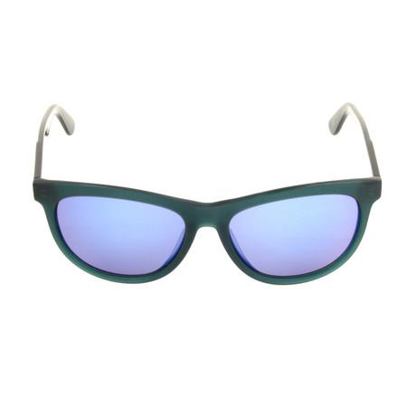 Unisex DL0191 Sunglasses // Matte Blue + Blue Mirror