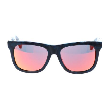 Unisex DL0116 Sunglasses // Blue Roviex Mirror