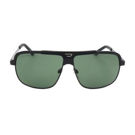 Men's DL0037 Polarized Sunglasses // Shiny Black + Green