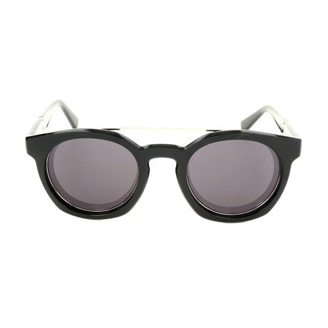 Unisex DL0251 Sunglasses // Shiny Black + Smoke