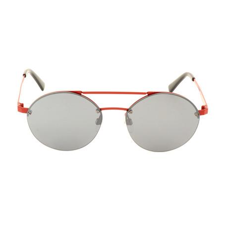 Unisex DL0275 Sunglasses // Matte Red + Smoke Mirror
