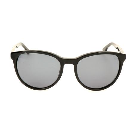 Unisex DL0123 Sunglasses // Shiny Black + Green