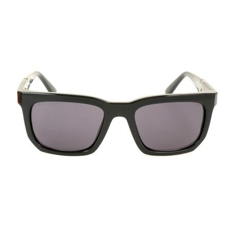 Men's DL0254 Sunglasses // Shiny Black + Smoke
