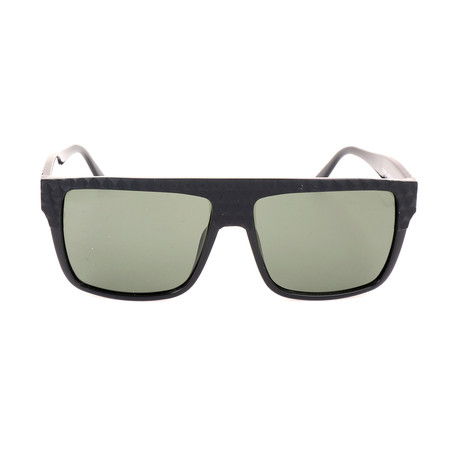 Unisex DL0044 Sunglasses // Shiny Black + Green