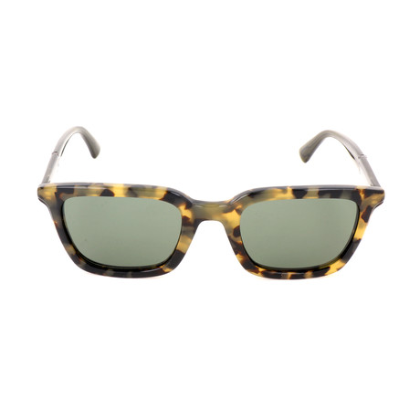 Men's DL0282 Sunglasses // Blonde Havana + Green