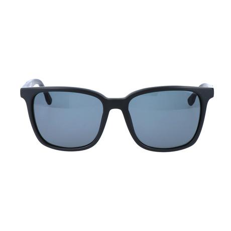 Unisex DL0122 Sunglasses // Matte Black + Green