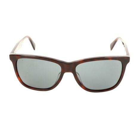 Unisex DL0222 Sunglasses // Dark Havana + Green