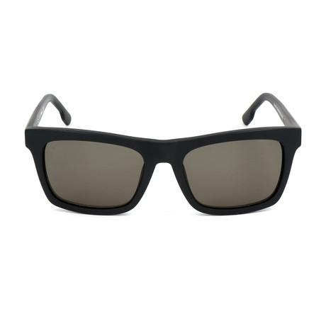 Unisex DL0120 Sunglasses // Matte Black + Green