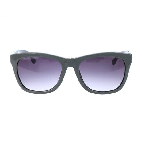 Unisex DL0055 Sunglasses // Shiny Light Green + Smoke