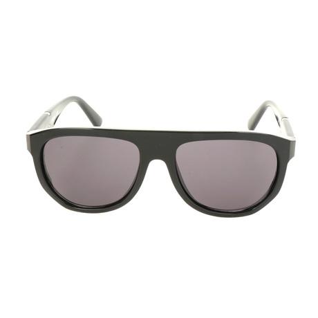 Men's DL0255 Sunglasses // Shiny Black + Smoke