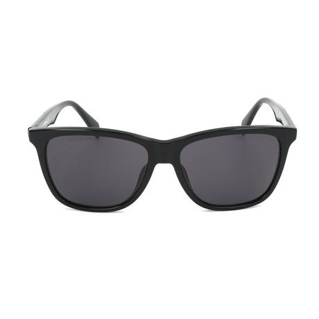 Unisex DL0222 Sunglasses // Shiny Black + Smoke