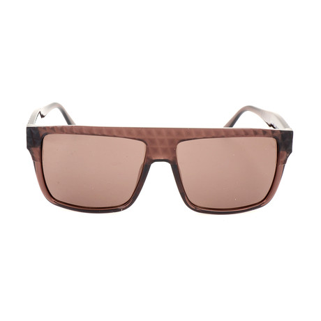 Unisex DL0044 Sunglasses // Shiny Dark Brown + Brown