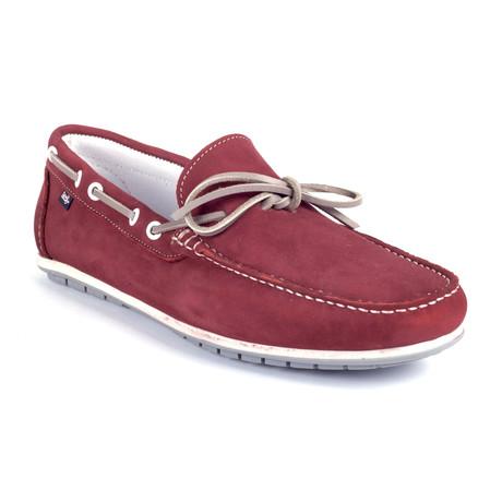 Socean Suede Boat Shoe // Red (Euro: 39)
