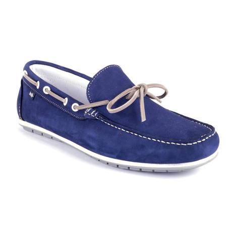 Socean Suede Boat Shoe // Blue (Euro: 39)