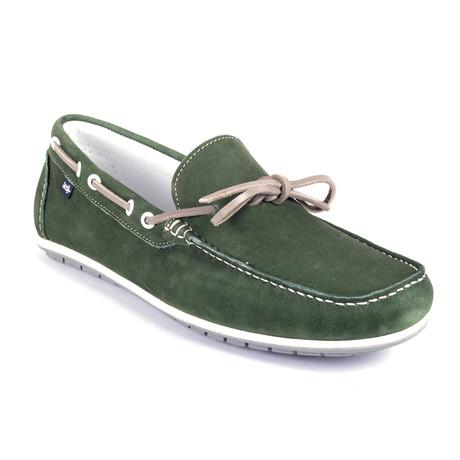 Socean Suede Boat Shoe // Green (Euro: 39)