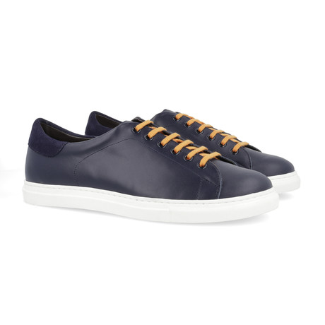 Betin Leather Sneakers // Blue (Euro: 39)