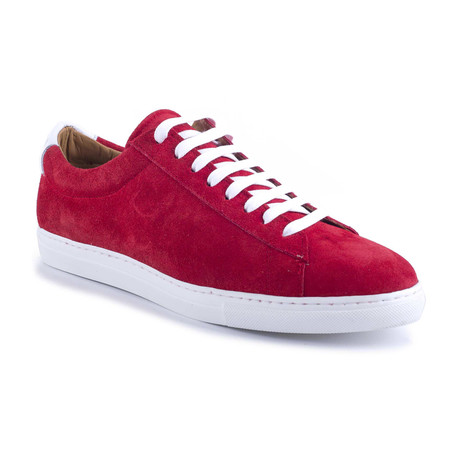 Seil Suede Sneakers // Red (Euro: 39)
