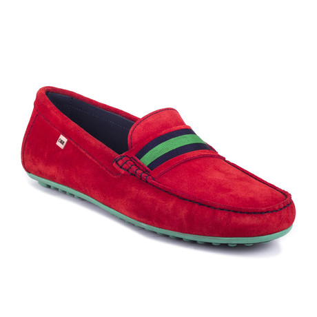 Rt-Seon Suede Moccasin // Red (Euro: 39)